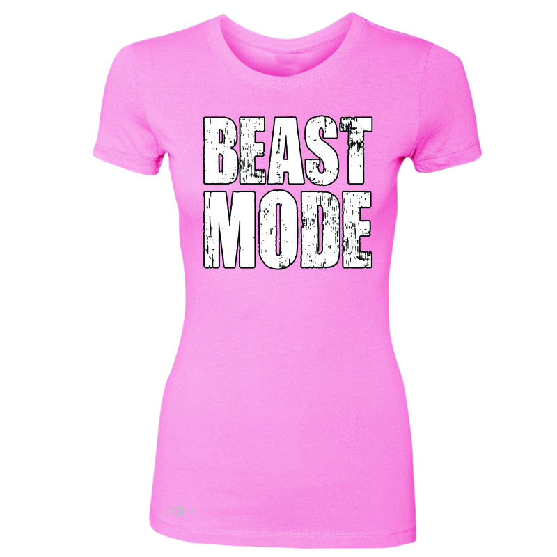 Beast Mode On  Women's T-shirt Workout Fitness Bodybuild Tee - Zexpa Apparel Halloween Christmas Shirts