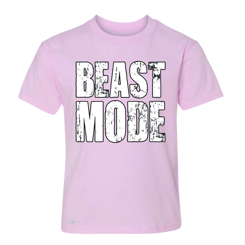 Beast Mode On  Youth T-shirt Workout Fitness Bodybuild Tee - Zexpa Apparel Halloween Christmas Shirts
