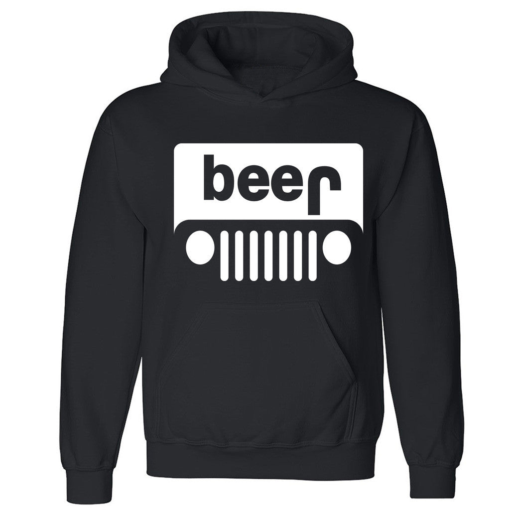 Beer Jeep Unisex Hoodie Funny Collage Party Dope Swag Design Hooded Sweatshirt - Zexpa Apparel Halloween Christmas Shirts