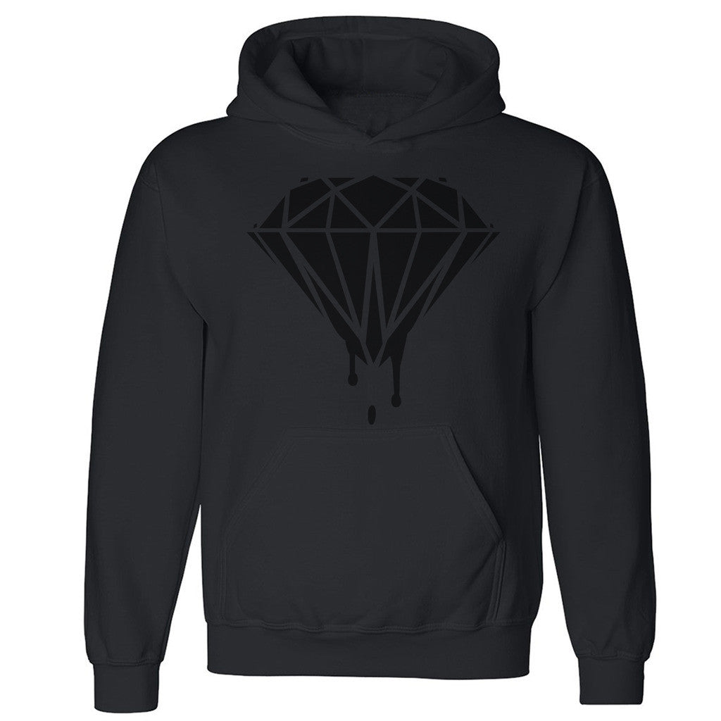 Black Diamond Dripping Melting Bleeding Unisex Hoodie Dope Hooded Sweatshirt - Zexpa Apparel Halloween Christmas Shirts