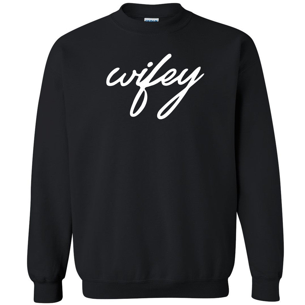 Wifey Couple Matching Unisex Crewneck Anniversary Valentines Day Sweatshirt - Zexpa Apparel