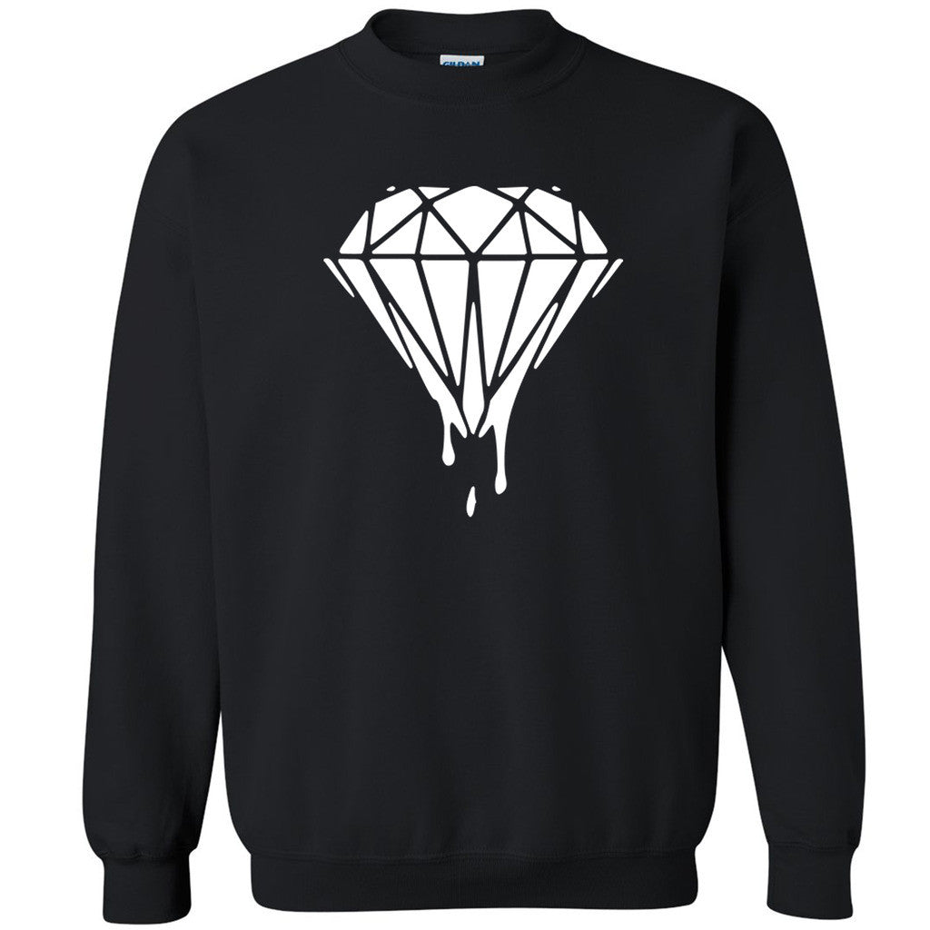 White Diamond Dripping Bleeding Melting Unisex Crewneck Dope Sweatshirt - Zexpa Apparel