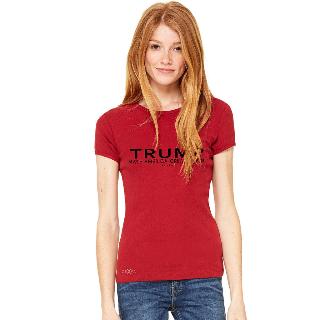 Donald Trump Make America Great Again Campaign Classic Black Design Women's T-shirt Elections Tee - Zexpa Apparel Halloween Christmas Shirts