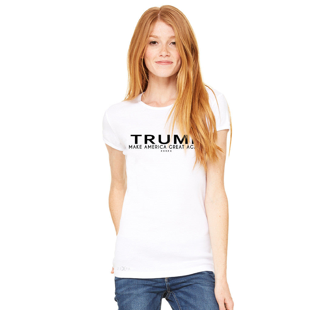 Donald Trump Make America Great Again Campaign Classic Black Design Women's T-shirt Elections Tee - Zexpa Apparel - 10