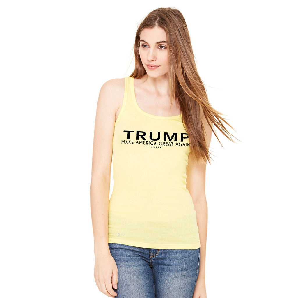 Donald Trump Make America Great Again Campaign Classic Black Design Women's Tank Top Elections Sleeveless - Zexpa Apparel Halloween Christmas Shirts