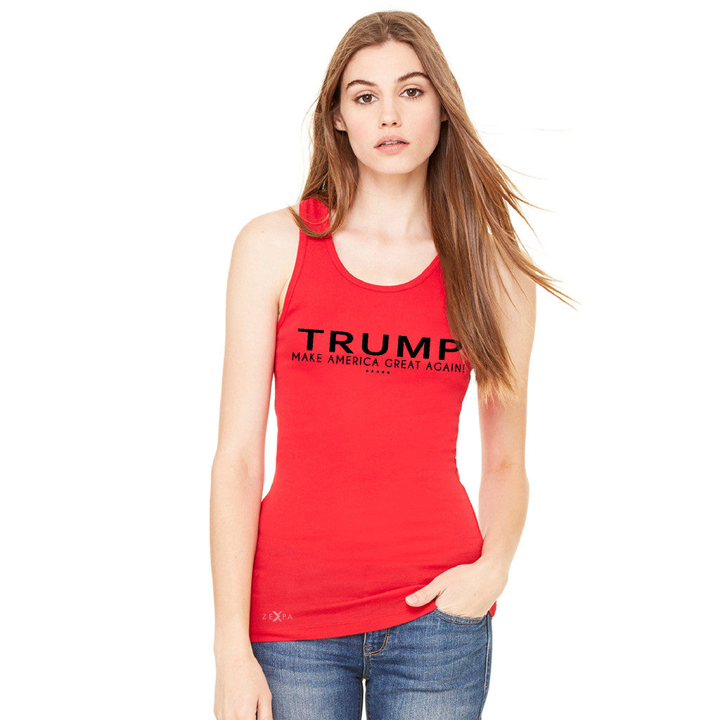 Donald Trump Make America Great Again Campaign Classic Black Design Women's Racerback Elections Sleeveless - Zexpa Apparel - 5