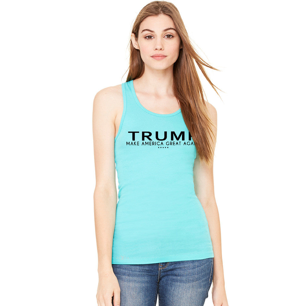 Donald Trump Make America Great Again Campaign Classic Black Design Women's Racerback Elections Sleeveless - Zexpa Apparel
