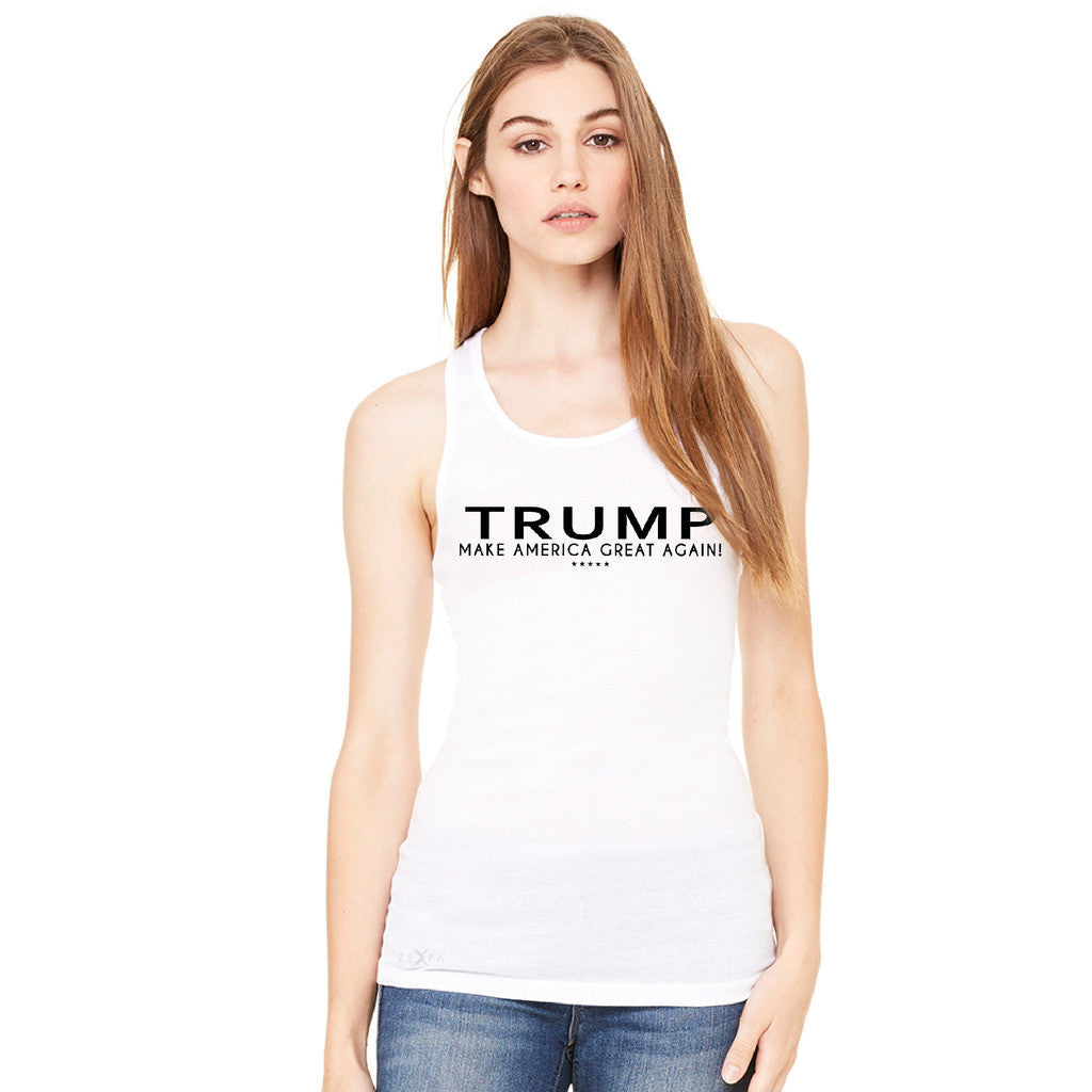 Donald Trump Make America Great Again Campaign Classic Black Design Women's Racerback Elections Sleeveless - Zexpa Apparel - 1