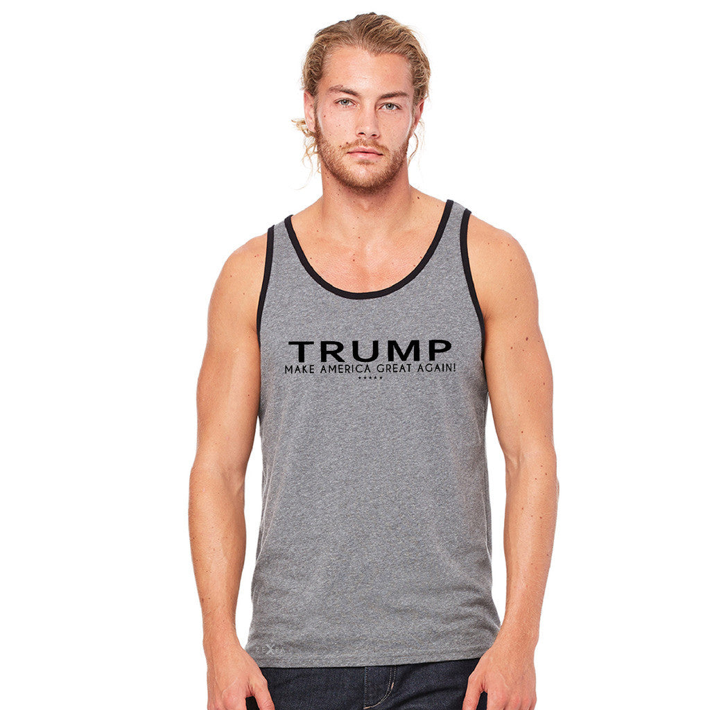 Donald Trump Make America Great Again Campaign Classic Black Design Men's Jersey Tank Elections Sleeveless - zexpaapparel - 6