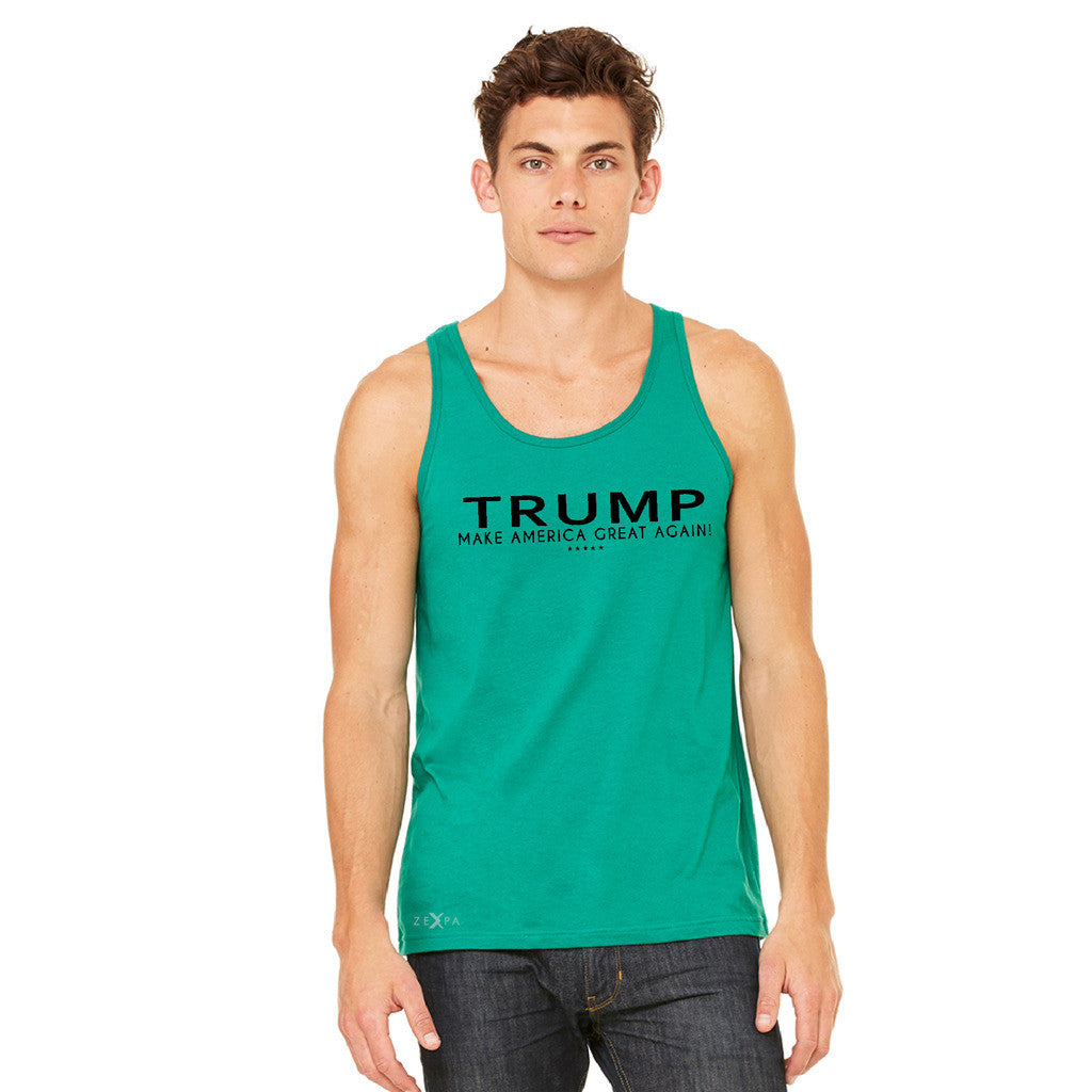 Donald Trump Make America Great Again Campaign Classic Black Design Men's Jersey Tank Elections Sleeveless - zexpaapparel - 7