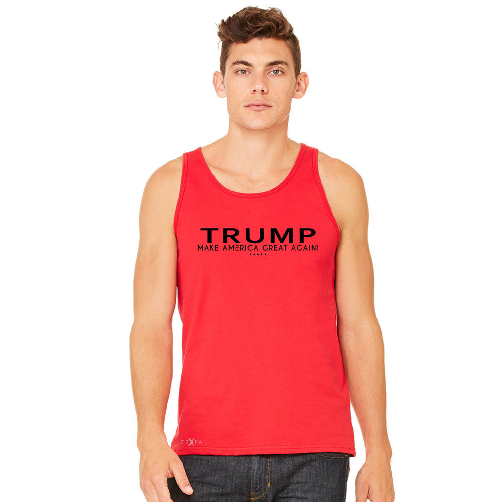 Donald Trump Make America Great Again Campaign Classic Black Design Men's Jersey Tank Elections Sleeveless - zexpaapparel - 8
