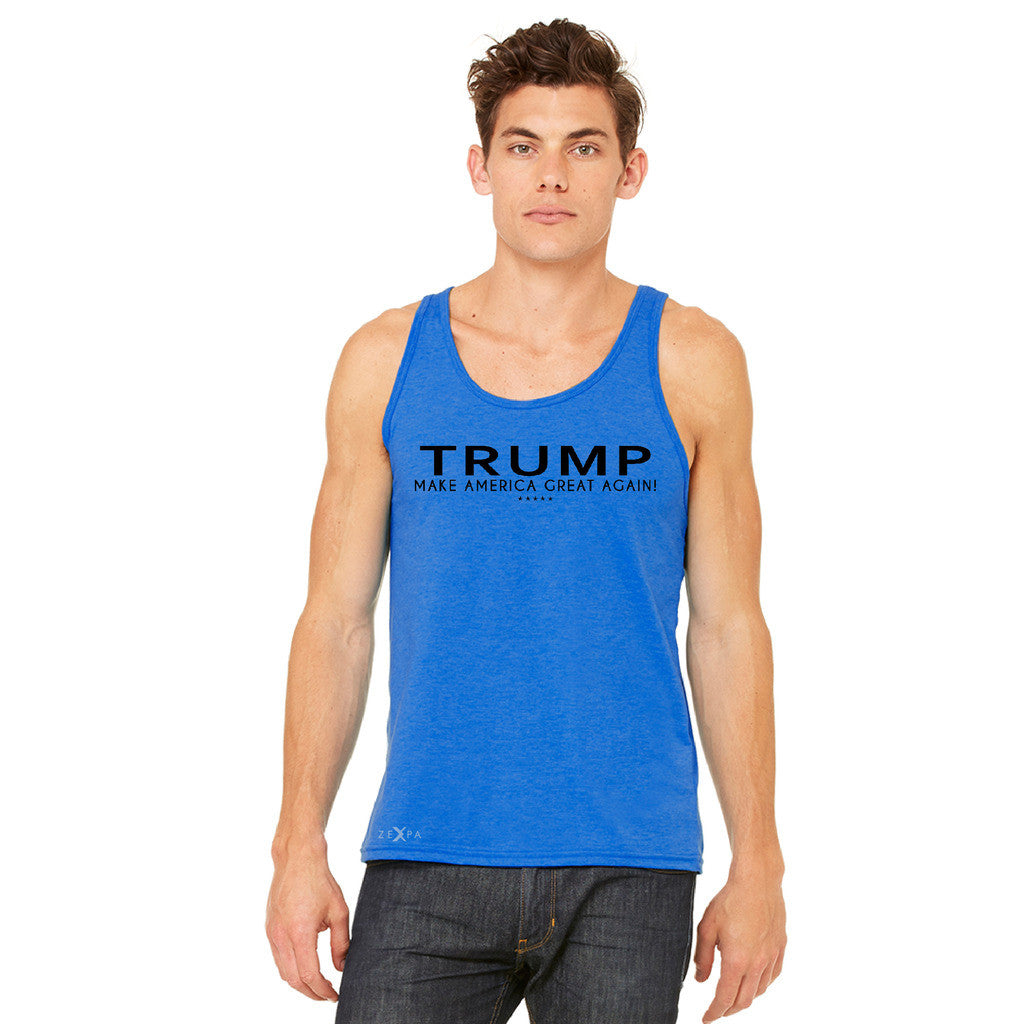 Donald Trump Make America Great Again Campaign Classic Black Design Men's Jersey Tank Elections Sleeveless - zexpaapparel - 9