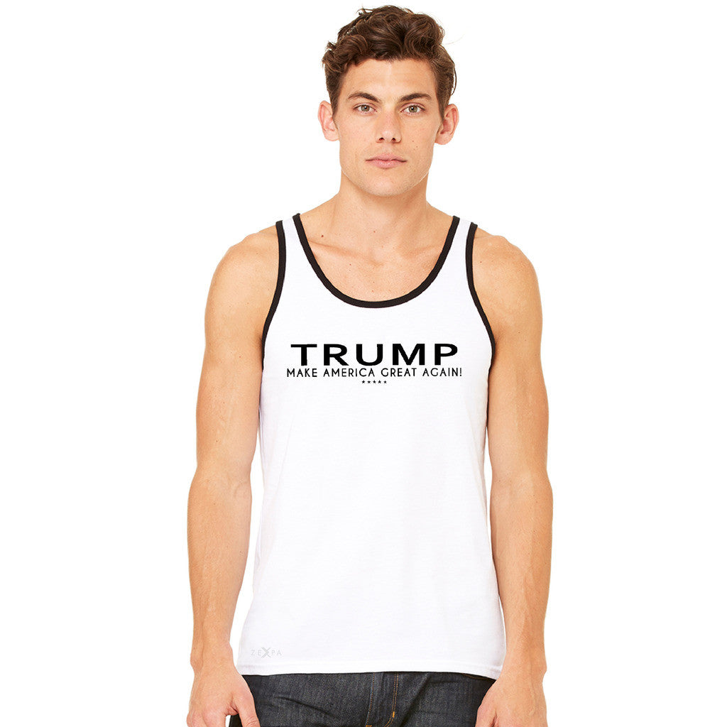 Donald Trump Make America Great Again Campaign Classic Black Design Men's Jersey Tank Elections Sleeveless - Zexpa Apparel