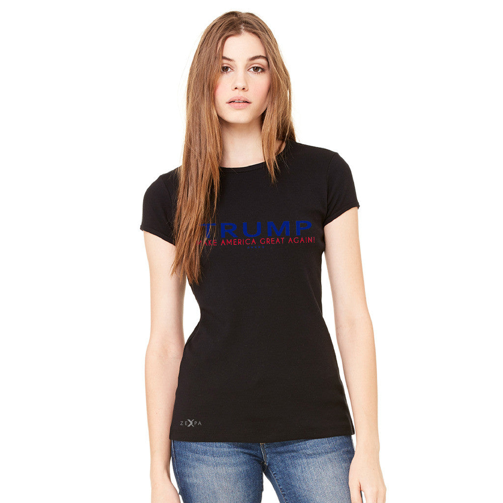 Donald Trump Make America Great Again Campaign Classic Navy Red Design Women's T-shirt Elections Tee - Zexpa Apparel - 3