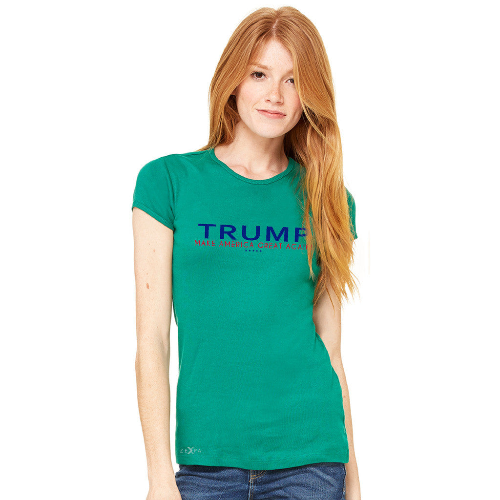 Donald Trump Make America Great Again Campaign Classic Navy Red Design Women's T-shirt Elections Tee - Zexpa Apparel - 6