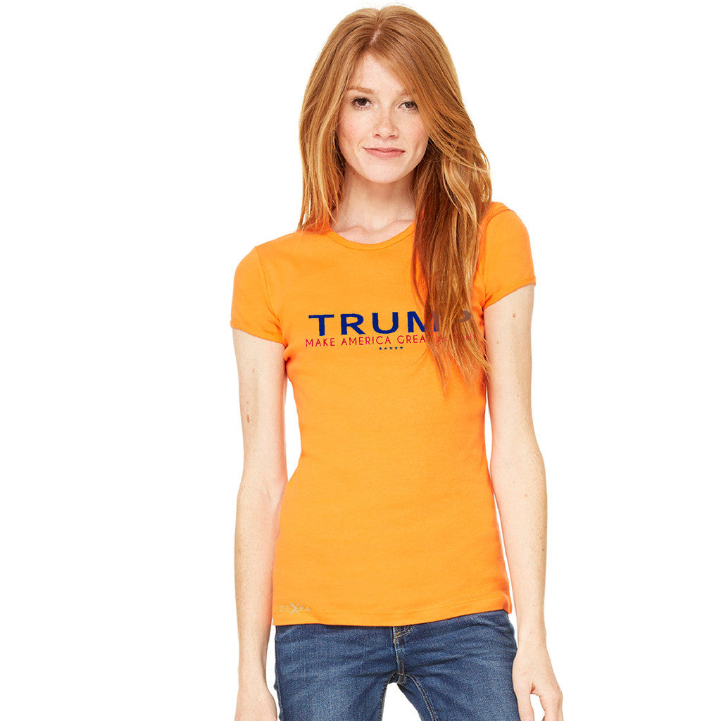 Donald Trump Make America Great Again Campaign Classic Navy Red Design Women's T-shirt Elections Tee - Zexpa Apparel Halloween Christmas Shirts