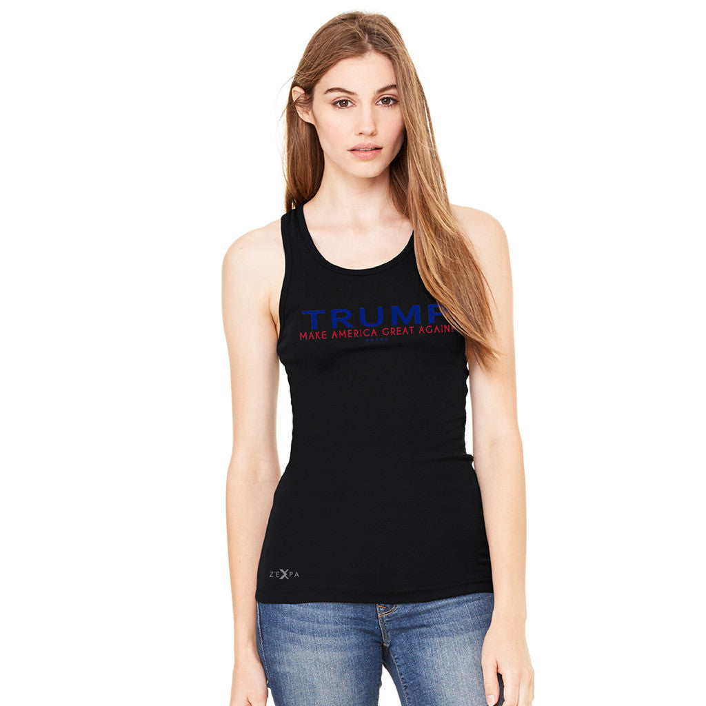 Donald Trump Make America Great Again Campaign Classic Navy Red Design Women's Racerback Elections Sleeveless - Zexpa Apparel Halloween Christmas Shirts