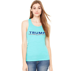 Donald Trump Make America Great Again Campaign Classic Navy Red Design Women's Racerback Elections Sleeveless - zexpaapparel - 5