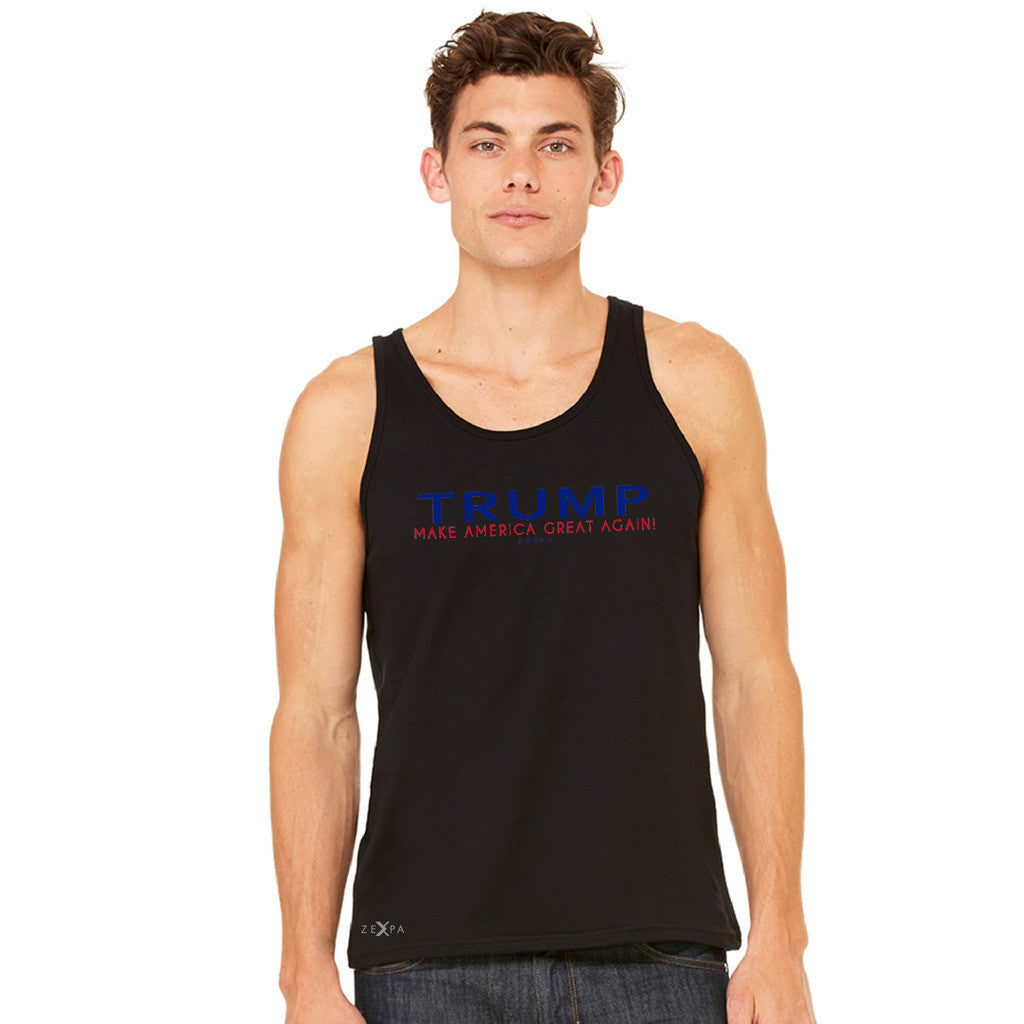 Donald Trump Make America Great Again Campaign Classic Navy Red Design Men's Jersey Tank Elections Sleeveless - zexpaapparel - 2