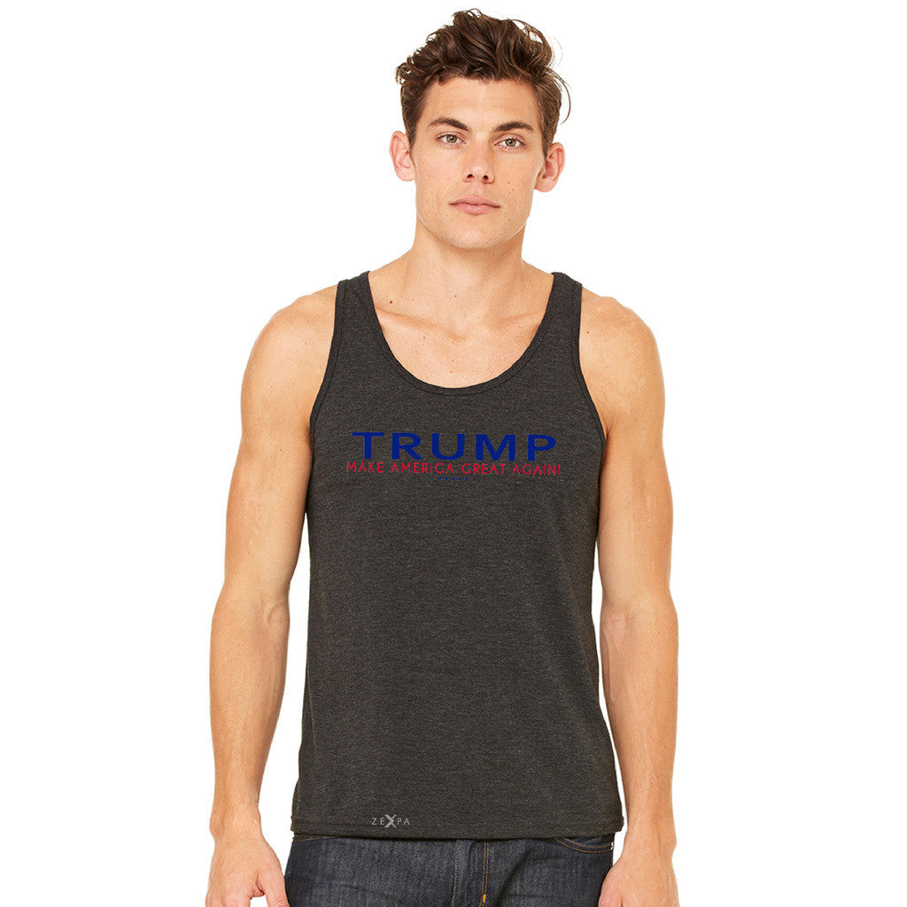 Donald Trump Make America Great Again Campaign Classic Navy Red Design Men's Jersey Tank Elections Sleeveless - zexpaapparel - 3
