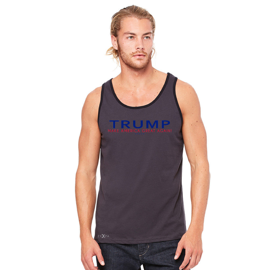 Donald Trump Make America Great Again Campaign Classic Navy Red Design Men's Jersey Tank Elections Sleeveless - Zexpa Apparel