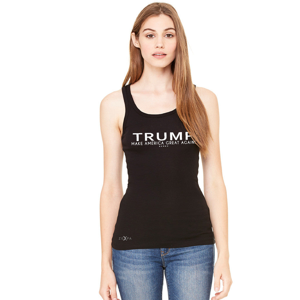 Donald Trump Make America Great Again Campaign Classic White Design Women's Tank Top Elections Sleeveless - Zexpa Apparel Halloween Christmas Shirts