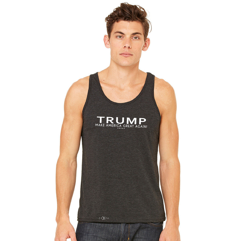 Donald Trump Make America Great Again Campaign Classic White Design Men's Jersey Tank Elections Sleeveless - zexpaapparel - 3