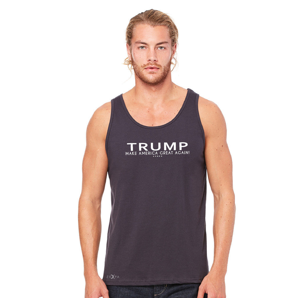 Donald Trump Make America Great Again Campaign Classic White Design Men's Jersey Tank Elections Sleeveless - zexpaapparel - 5