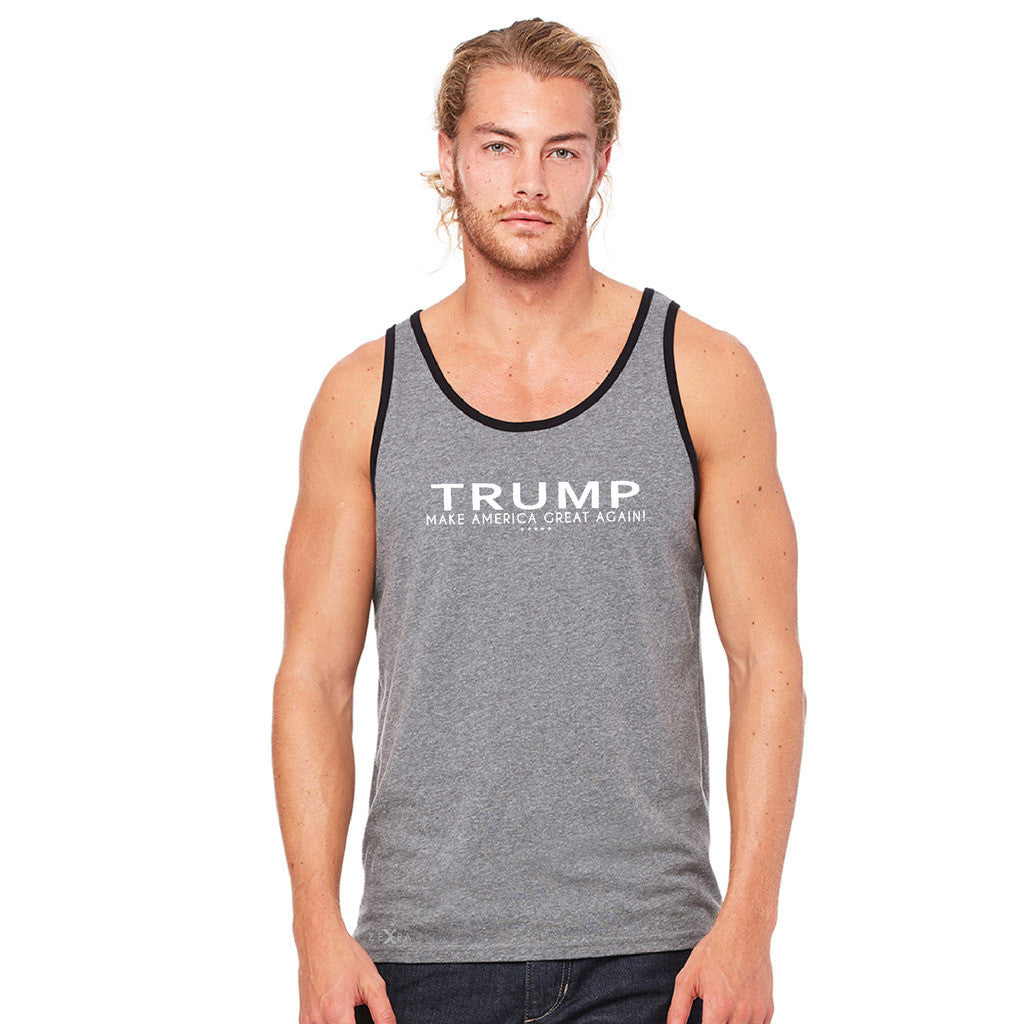 Donald Trump Make America Great Again Campaign Classic White Design Men's Jersey Tank Elections Sleeveless - zexpaapparel - 6