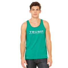 Donald Trump Make America Great Again Campaign Classic White Design Men's Jersey Tank Elections Sleeveless - zexpaapparel - 7