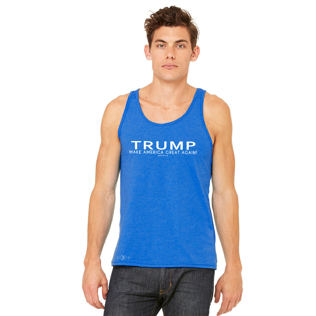 Donald Trump Make America Great Again Campaign Classic White Design Men's Jersey Tank Elections Sleeveless - Zexpa Apparel