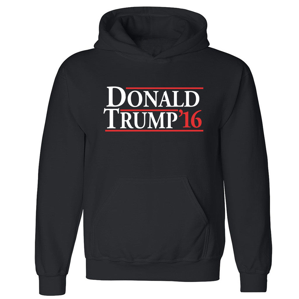 "Zexpa Apparelâ""¢ Donald Trump 16 Unisex Hoodie Old School Reagan Bush 84 Hooded Sweatshirt"