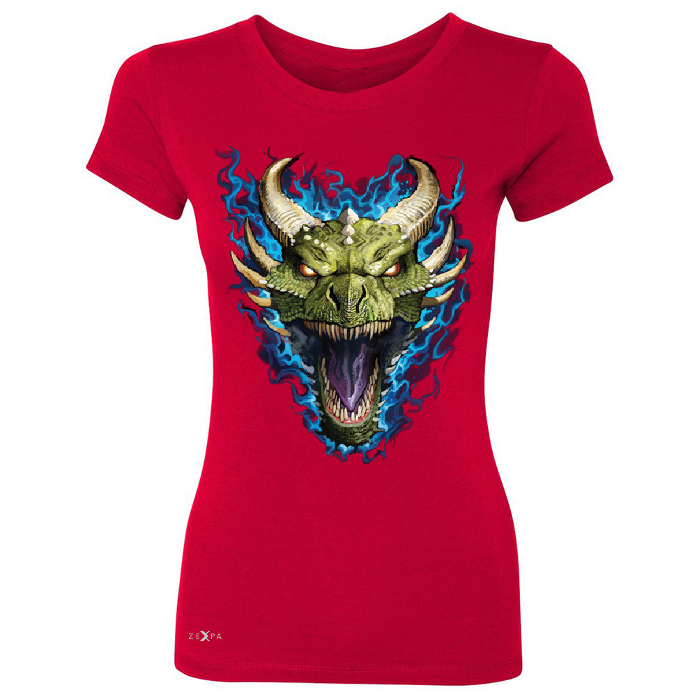 Angry Dragon Face Women's T-shirt Cool GOT Ball Thronies Tee - Zexpa Apparel Halloween Christmas Shirts