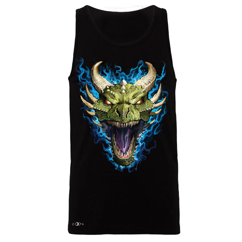 Angry Dragon Face Men's Jersey Tank Cool GOT Ball Thronies Sleeveless - Zexpa Apparel Halloween Christmas Shirts