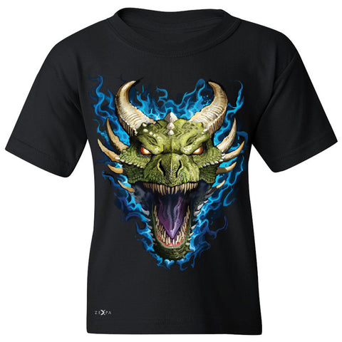 Angry Dragon Face Youth T-shirt Cool GOT Ball Thronies Tee - Zexpa Apparel Halloween Christmas Shirts