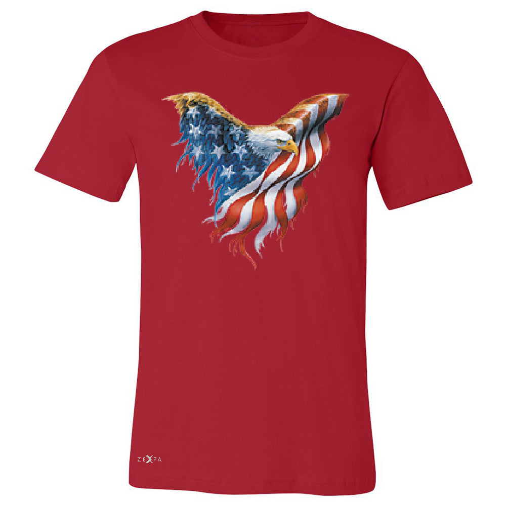 American Flag Bald Eagle Men's T-shirt USA Flag 4th of July Tee - Zexpa Apparel Halloween Christmas Shirts