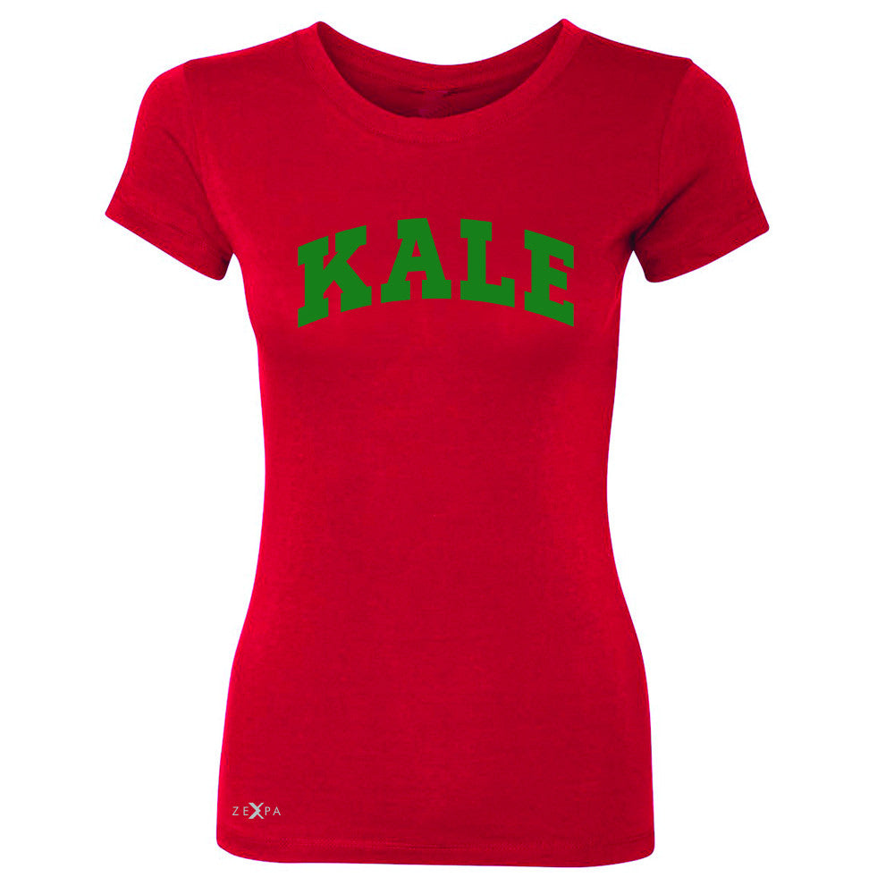 Kale GN University Gift for Vegetarian Women's T-shirt Vegan Fun Tee - Zexpa Apparel - 4