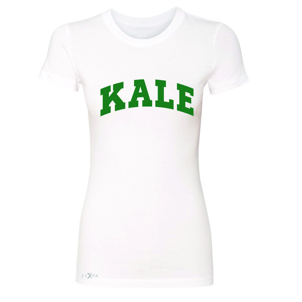 Kale GN University Gift for Vegetarian Women's T-shirt Vegan Fun Tee - Zexpa Apparel - 5