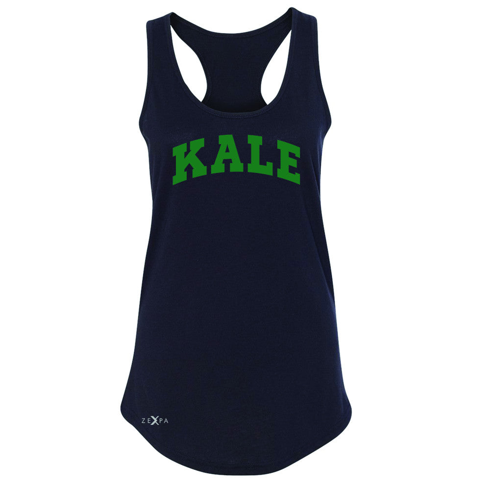 Kale GN University Gift for Vegetarian Women's Racerback Vegan Fun Sleeveless - Zexpa Apparel - 1
