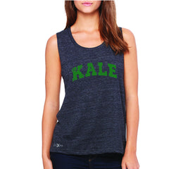 Kale G University Gift for Vegetarian Women's Muscle Tee Vegan Fun Sleeveless - Zexpa Apparel