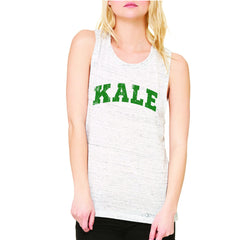 Kale G University Gift for Vegetarian Women's Muscle Tee Vegan Fun Sleeveless - Zexpa Apparel - 5