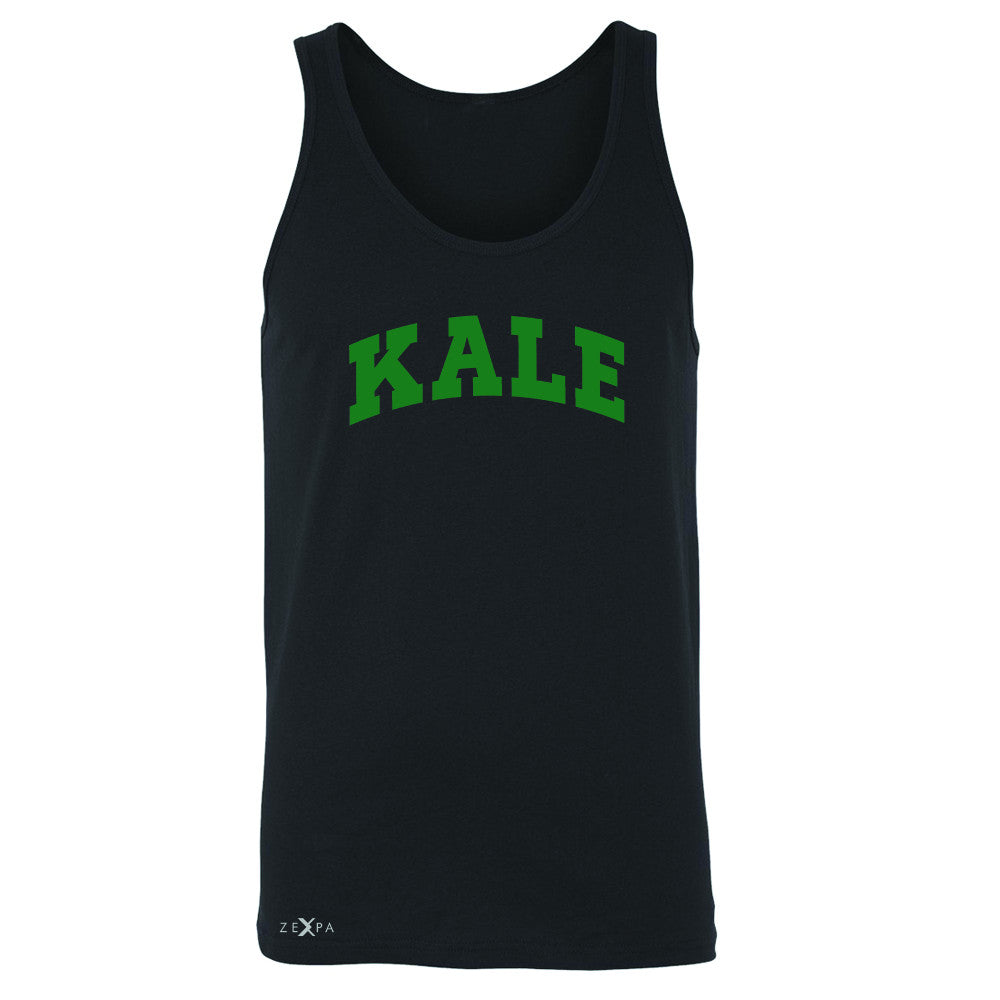 Kale GN University Gift for Vegetarian Men's Jersey Tank Vegan Fun Sleeveless - Zexpa Apparel - 1
