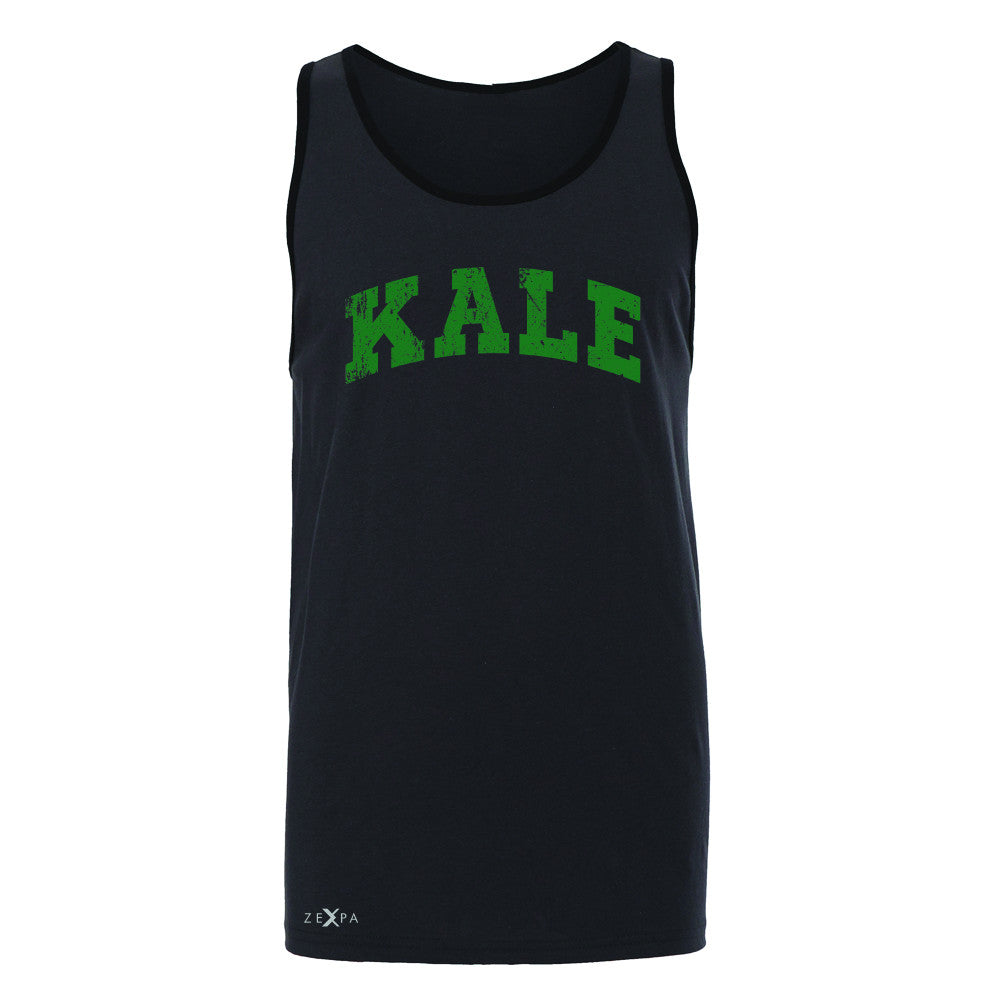 Kale G University Gift for Vegetarian Men's Jersey Tank Vegan Fun Sleeveless - Zexpa Apparel