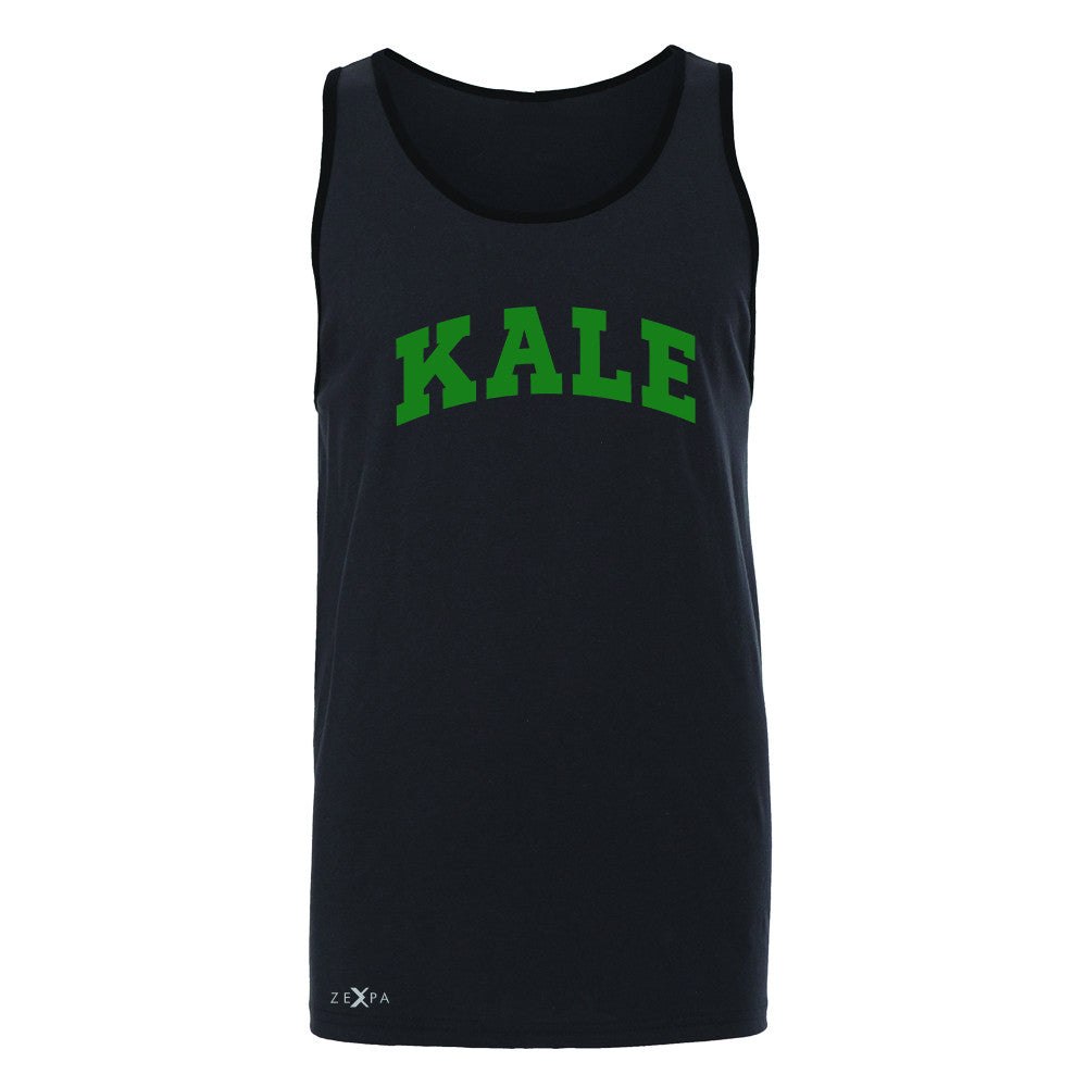 Kale GN University Gift for Vegetarian Men's Jersey Tank Vegan Fun Sleeveless - Zexpa Apparel - 3