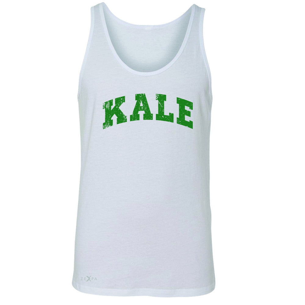 Kale G University Gift for Vegetarian Men's Jersey Tank Vegan Fun Sleeveless - Zexpa Apparel - 5