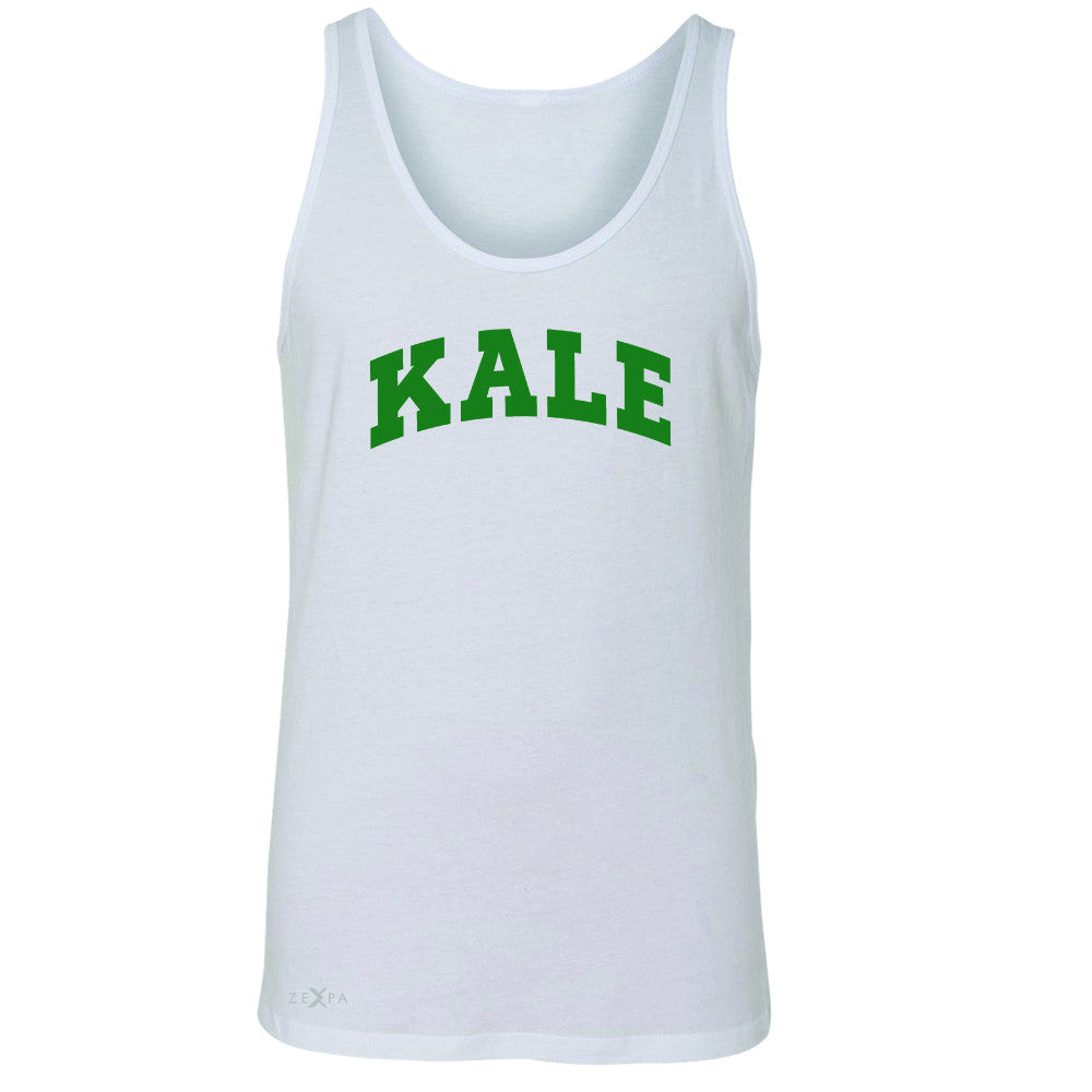 Kale GN University Gift for Vegetarian Men's Jersey Tank Vegan Fun Sleeveless - Zexpa Apparel - 5