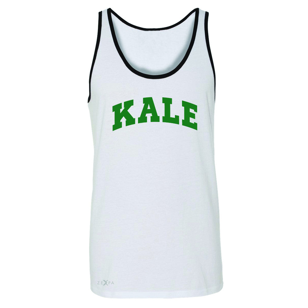 Kale GN University Gift for Vegetarian Men's Jersey Tank Vegan Fun Sleeveless - Zexpa Apparel - 6