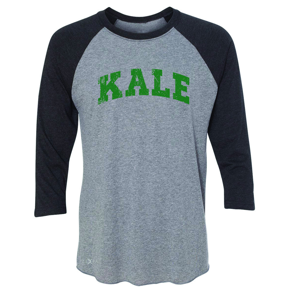 Kale G University Gift for Vegetarian 3/4 Sleevee Raglan Tee Vegan Fun Tee - Zexpa Apparel - 1