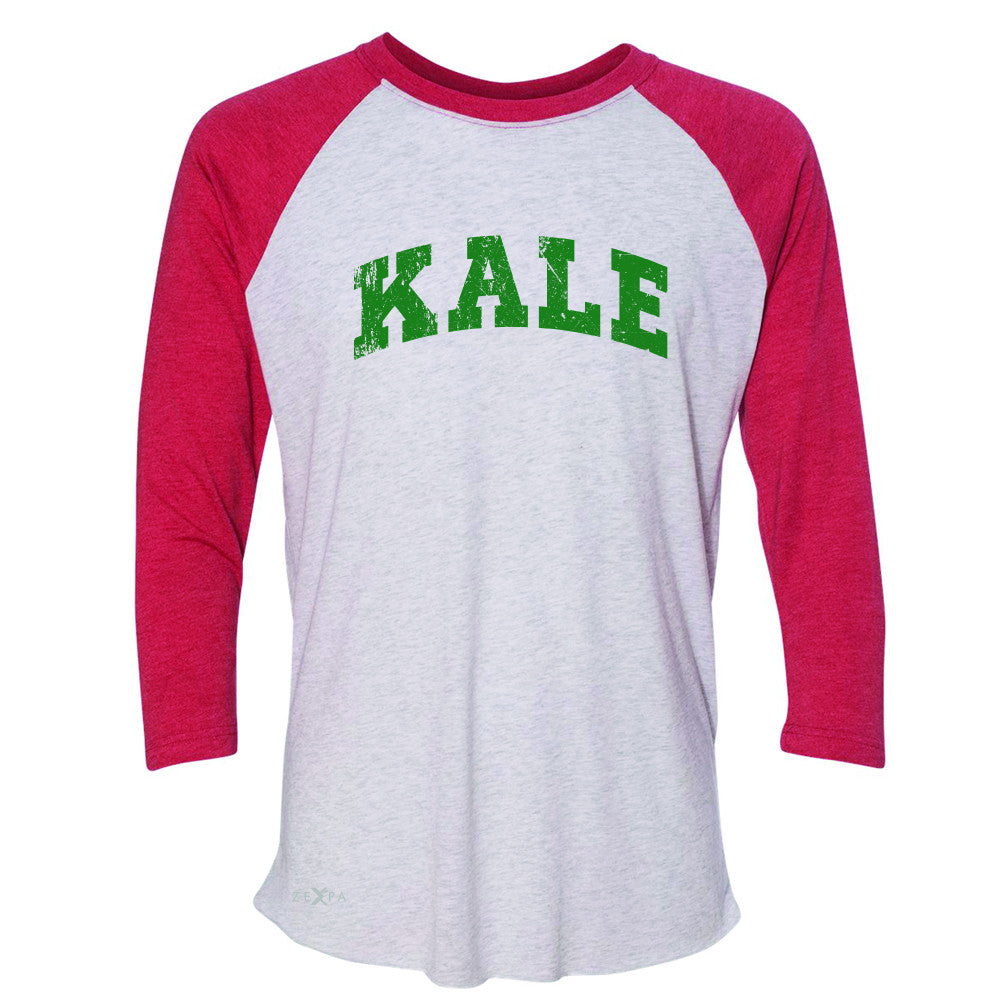 Kale G University Gift for Vegetarian 3/4 Sleevee Raglan Tee Vegan Fun Tee - Zexpa Apparel - 2