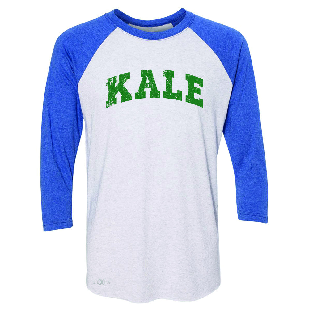 Kale G University Gift for Vegetarian 3/4 Sleevee Raglan Tee Vegan Fun Tee - Zexpa Apparel - 3